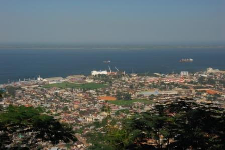 Freetown from Fourah Bay College, Sierra Leone - by Jim Scott